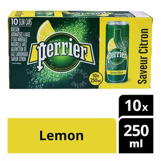 Perrier Sparkling Natural Mineral Can Water - Lemon