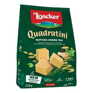 Loacker Quadratini Crispy Wafers - Matcha-Green Tea