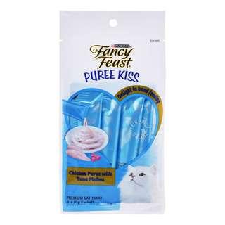 Fancy Feast Puree Kiss Cat Treat - ChickenPureewithTunaFlakes
