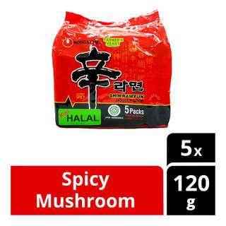 Nongshim Shin Ramyun Instant Noodle - Spicy Mushroom (Halal)