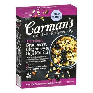 Carman's Muesli - Cranberry, Blueberry & GojiMuesli(Super Berry)