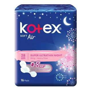 Kotex Soft Air Super Ultrathin NightWingsPads-Heavy(28cm)