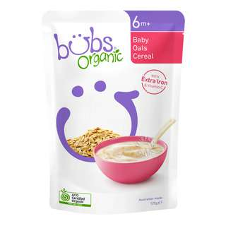 Bubs Organic Baby Cereals - Oats