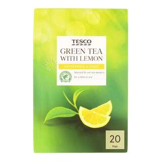 Tesco Tea Bags - Green Tea with Lemon