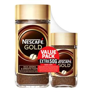 Nescafe Gold Instant Arabica Ground Coffee - Rich & Smooth