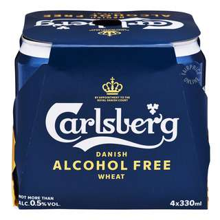Carlsberg Danish Can Beer - Wheat (Alcohol Free)