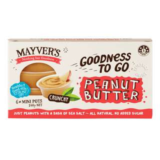 Mayver's Mini Pots Peanut Butter - Crunchy