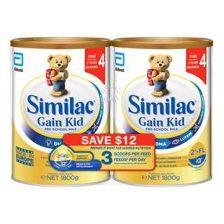 Abbott Similac Gain Kid Pre-School Milk Formula - Stage 4