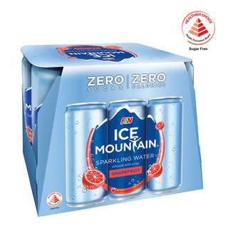 F&N Ice Mountain Sparkling Can Water - Grapefruit(No Sugar)
