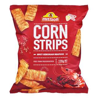 Mission Corn Strips Chips - Spicy Szechuan Seafood