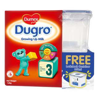 Dumex Dugro Growing Up Milk - Step 3 + Container