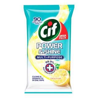 Cif Power & Shine Multi-Purpose Wipes - Citrus Fresh