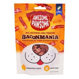 Awesome Pawsome All-Natural Dog Treats - Baconmania