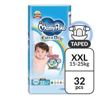MamyPoko Extra Dry Tape Diapers - XXL (15 - 25kg)