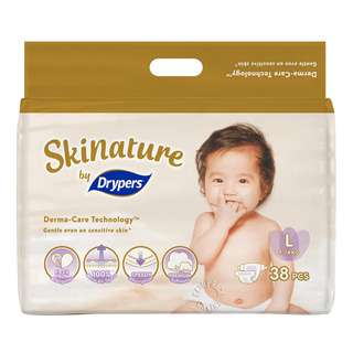 Drypers Skinature Diapers - L (9 - 14kg)