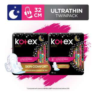 Kotex Luxe Ultrathin Night Wing Pads-HeavyFlow(32cm)