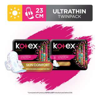 Kotex Luxe Ultrathin Day Wing Pads - Regular (23cm)