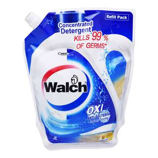 WALCH ANTIBACTERIAL CONCENTRATED LIQUID DET REFILL PACK-LEMON 2L