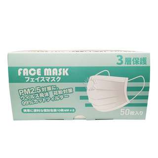 Shanlee 3 Ply Face Mask (White)