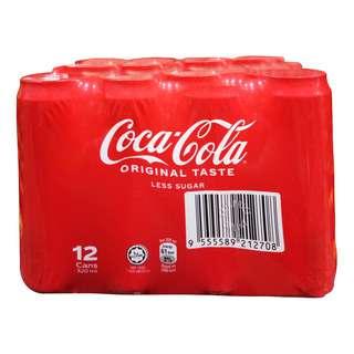 COCA COLA ORIGINAL TASTE-LESS SUGAR CANNED 12S 320ML