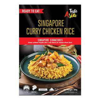TASTE ASIA SINGAPORE CHICKEN CURRY WITH RICE 300G