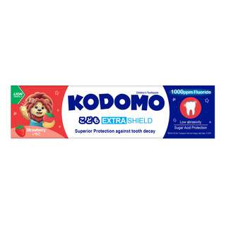 KODOMO EXTRA SHIELD CHILDREN'S TOOTHPASTE - STRAWBERRY 65G