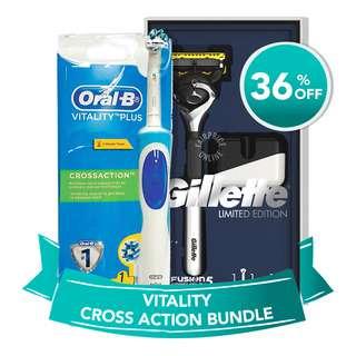Oral-B Vita Crossaction + Fusion Proshield 5 Bundle