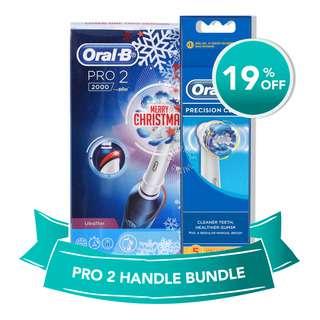 Oral-B Pro 2000 + Precision Clean Refill Bundle