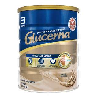 Glucerna®  Triple Care scientifically formulated to support dietary and weight management in people with diabetes. The new improved formula features a Triple Care nutrient system to complement your diabetes management care plan. It is a low glycemic index, sucrose-free, complete and balanced formula with 28 vitamins and minerals. Each serving of Glucerna® delivers 10g of a high quality Triple Protein blend. It is lactose-free and gluten-free.