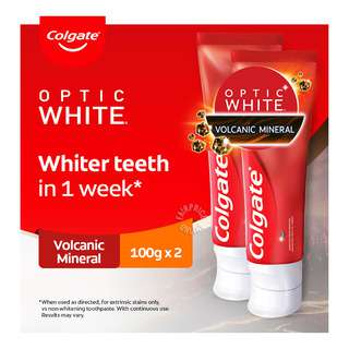 Colgate Optic White Toothpaste - Volcanic Mineral