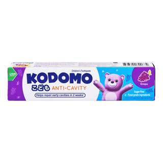 KODOMO ANTI-CAVITY CHILDRENS TOOTHPASTE - GRAPE 1S