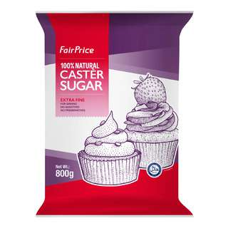 From the finest can sugar, FairPrice 100% Natural Caster Sugar has a delicate and light texture which is suitable for baking and dessert making