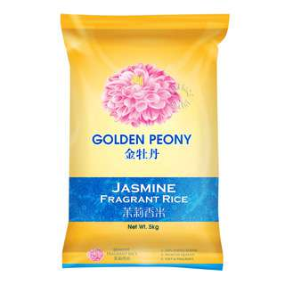 GOLDEN PEONY 100% SOFT AND FLUFFY JASMINE FRAGRANT RICE 5KG