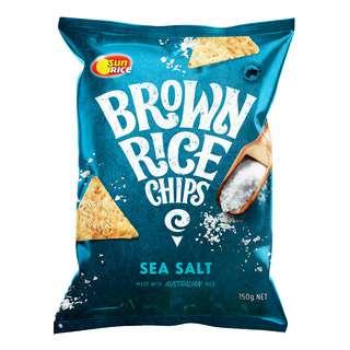 SunRice Brown Rice Chips - Sea Salt