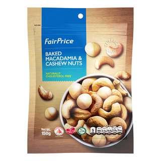 FAIRPRICE BAKED MACADAMIA & CASHEW NUTS 150G