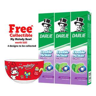Darlie Double Action Toothpaste - Multi Care + My MelodyBowl