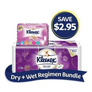 Kleenex Dry + Wet Regimen Bundle