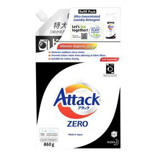 Attack Zero Laundry Detergent Refill - Low Suds