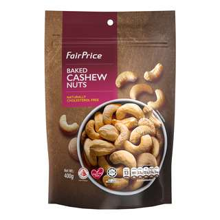 FAIRPRICE BAKED CASHEW NUTS 400G