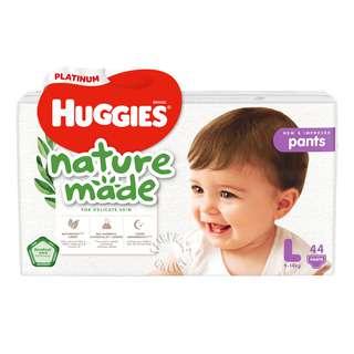 HUGGIES NATUREMADE UNISEX PANTS L 44S