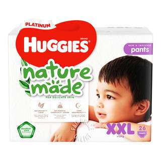 Huggies Baby Diaper Platinum Naturemade Pants - XXL (15kg)