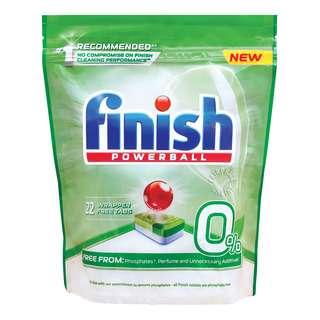 FINISH 0% DISHWASHER TABLETS 22S