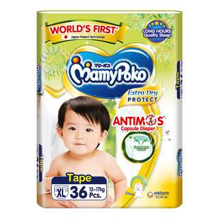 MamyPoko Extra Dry Tape Diapers - XL  (12 - 17kg)