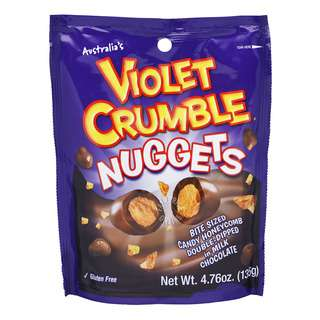 Violet Crumble Candy Honeycomb Milk Chocolate (Nuggets)