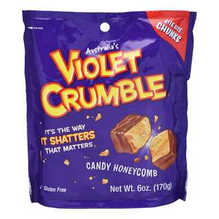 Violet Crumble Candy Honeycomb - Milk Chocolate (Bite Size)