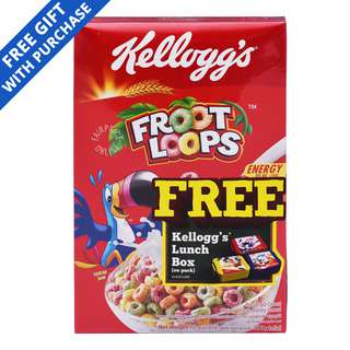 Kellogg's Cereal - Froot Loops + Lunch Box