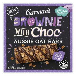 Carman's Aussie Oat Bars - Brownie with Choc
