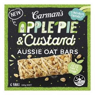 Carman's Aussie Oat Bars - Apple Pie & Custard