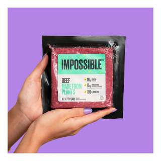 #CookImpossible. Eat meat. Save the planet. We are on a mission to make products that are good for you and good for the planet to save meat, and earth. Compared to beef from cows, Impossible Beef Made from Plants uses 87% less water, 96% less land, and generates 89% fewer greenhouse gas emissions. Each pack of Impossible Beef made from plants reduces your water footprint by 504 bottles (500ml).