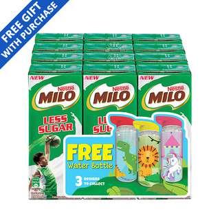 Milo Chocolate Malt UHT Packet Drink - Less Sugar + Free Water Bottle
